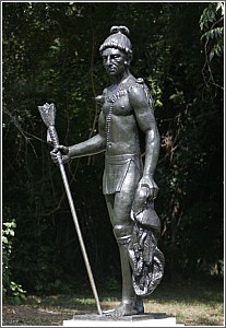 Cassique Statue at Charles Towne Landing