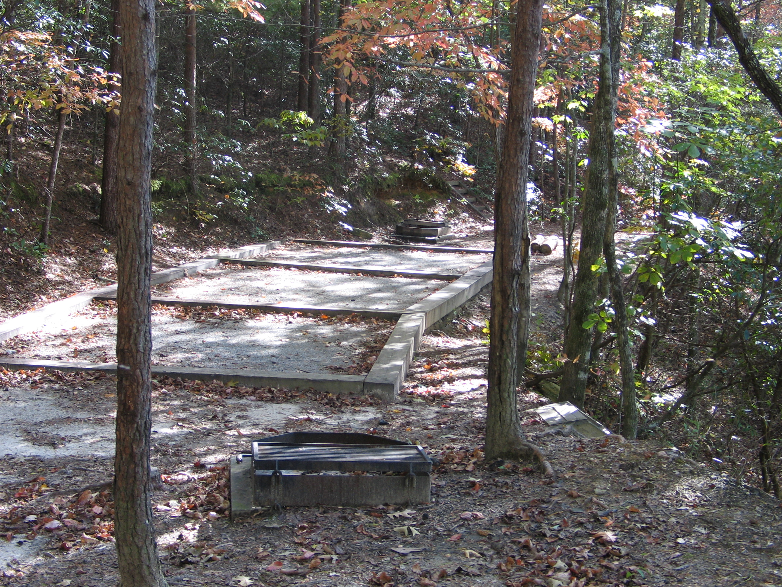 Devils Fork Boat-in Site Tent Pad
