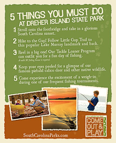 Top 5 Things to Do at Dreher Island