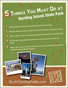 Top Five Things to Do at Hunting Island